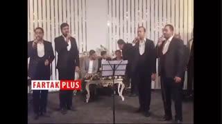 اجرای سرود درباره سردار سلیمانی در مراسم عروسی مهدی ترابی