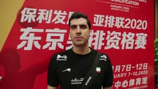 گفتوگو با شهرام محمودی، امتیازآورترین بازیکن دیدار ایران و چین