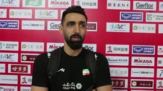 گفتوگو با پوریا فیاضی، پس از پیروزی تیم ملی والیبال ایران برابر چین