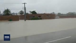 وضعیت برخی مناطق هرمزگان بعد از بارش اخیر