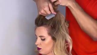 آموزش مدل مو دخترانه تکنیک بی نظمی- مومیس مشاور و مرجع تخصصی مو