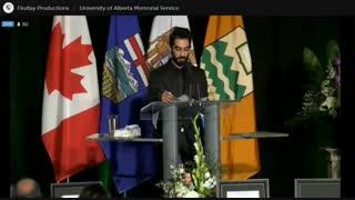 مراسم یادبود پرکشیدگان پرواز تهران کیاف از دانشگاه آلبرتا - قسمت 5