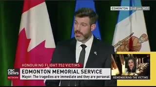 شهردار ادمونتون کانادا با زبان فارسی با بازماندگان سانحه سقوط هواپیمای اوکراینی ابراز همدردی کرد