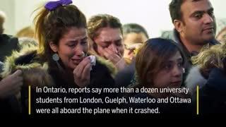 ویدئویی تازه از شبکه های خبری کانادا درباره جانباختگان پرواز تهران کی اف
