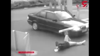 سقوط راهبند اهرمی بر روی سر مرد نگون بخت