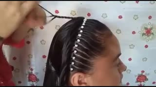 آموزش مدل مو دخترانه تاج شبکه ای - مومیس مشاور و مرجع تخصصی مو
