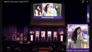 مراسم یادبود پرکشیدگان ایرانی در دانشگاه وسترن کانادا - قسمت 3