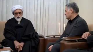 دیدار تولیت آستان قدس رضوی با خانواده شهید مرادی از شهدای کرمانی سانحه سقوط هواپیما
