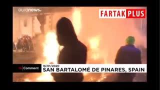 تطهیر روح حیوانات اسپانیایی با آتش