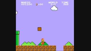 مرحله 1-1 بازی محبوب و خاطره انگیر قارچ خور کنسول میکرو Super Mario Bros