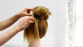 آموزش مدل مو دخترانه شینیون خلاقانه- مومیس مشاور و مرجع تخصصی مو