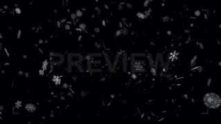 فوتیج بک گراند موشن گرافیک دانه های برف Snowflakes
