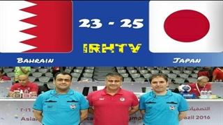 دیدار تیم های ملی بحرین و ژاپن در مسابقات هندبال قهرمانی مردان آسیا2020