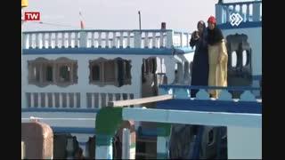 بر نامه تلویزیونی شهر به شهر شهرستان سیریک تالاب آذینی روستای عاشقان