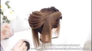 آموزش مدل مو دخترانه رول فرانسوی جدید- مومیس مشاور و مرجع تخصصی مو