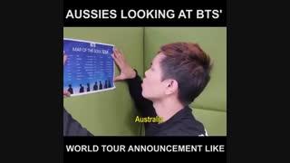 وقتی یه استرالیایی دنبال اسم استرالیا توی تور بی تی اس میگرده