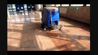 اسکرابر - استفاده از اسکرابر خودرویی در راه آهن - اسکرابر سرنشین دار- اسکرابر خودرویی