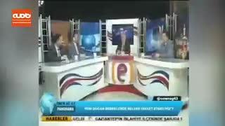 فیلمی از لحظه وقوع زلزله ترکیه در برنامه زنده