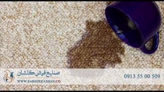 پاک کردن انواع  لکه از روی فرش