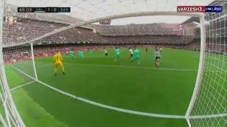 خلاصه بازی والنسیا 2 - بارسلونا صفر