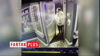 مردم آزاری راننده خودرو برف روب در هوای سرد زمستانی!