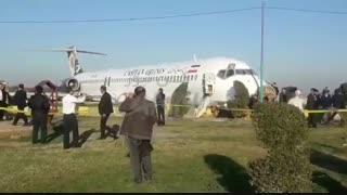 توضیحات مسافر پرواز کاسپین درباره چگونگى خروج هواپیما از باند فرودگاه ماهشهر خوزستان