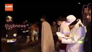واژگونی اتوبوس در اصفهان