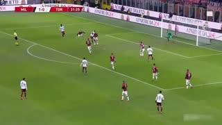 خلاصه بازی جذاب و دیدنی آث میلان 4 - تورینو 2 از جام حذفی ایتالیا