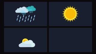 پروژه آماده پریمیر 15 آیکون انیمیت آب و هوا