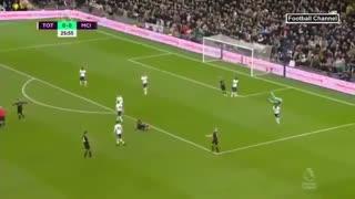 خلاصه بازی تاتنهام 2 - منچسترسیتی از هفته بیست و پنجم لیگ برتر انگلیس