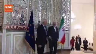 دیدار مسئول سیاست خارجی اتحادیه اروپا با وزیر خارجه