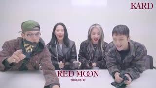 kard * گزارشات فن چنت کامبک Red Moon با گروه K.A.R.D * جدید ماه قرمز
