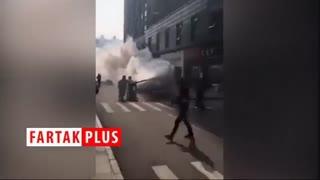 ضدعفونی کردن خیابانهای چین از ترس ویروس کرونا
