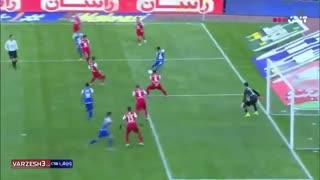 خلاصه بازی جذاب و دیدنی پرسپولیس 2 - استقلال 2 دربی 92 از هفته 19 لیگ برتر ایران