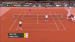 تنیس دو نفره راجر فدرر- بیل گیتس و رافائل نادال - ترور نوآ - iCinemaa.com