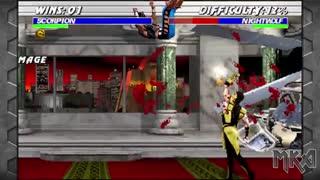 گیم پلی بازی نهایی مورتال کمبت Ultimate Mortal Kombat 3 Remake بازسازی شده برای کامپیوتر_با کیفیت 4KHD-720p