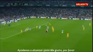 خلاصه بازی پرگل و حساس رئال بتیس 2 - بارسلونا 3 از هفته 23 لالیگا اسپانیا