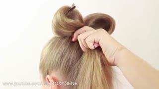 آموزش مدل مو دخترانه پاپیونی- مومیس مشاور و مرجع تخصصی مو