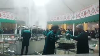 چایخانه دائمی حضرت رضا علیهالسلام در صحن کوثر حرم مطهر رضوی