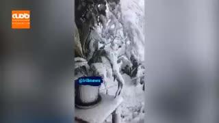 اوضاع لاهیجان را در بارش سنگین برف ببینید