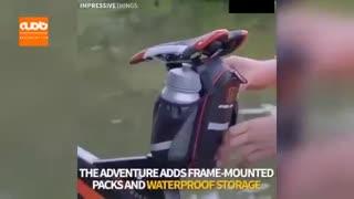 دوچرخه سواری روی آب!