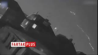 لحظه وحشتناک برخورد صاعقه به هواپیما!