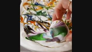 تزیین تخم مرغ رنگی برای سفره هفت سین