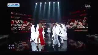 اجرای ROSE از لی های Lee Hi با حضور سی ال CL از توانی وان 2NE1 در اینکیگایو Inkigayo 2013