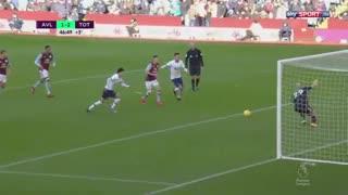 خلاصه بازی پرگل و دیدنی استون ویلا 2 - تاتنهام از هفته 26 لیگ برتر انگلیس