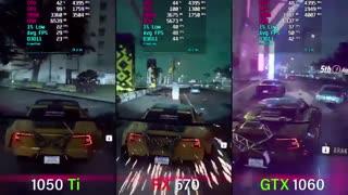 مقایسه قدرت گرافیکی کارت گرافیک RX 570 در مقابل GTX 1050TI و GTX 1060