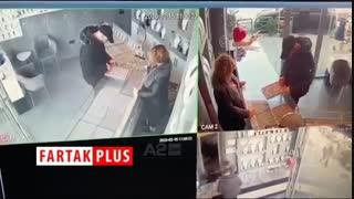 سرقت زیرکانه فروشنده جواهراتی از سارق