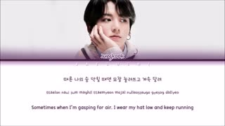 BTS JUNGKOOK - My Time Color Coded Lyrics Eng/Rom/Han/가사+ترجمه