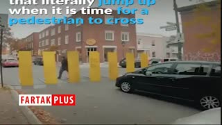 سیستمی جالب برای متوقف کردن خودرو قبل از خط عابر پیاده