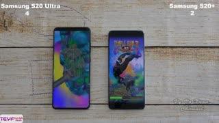 مقایسه گوشی سامسونگ +S20 با گوشی سامسونگ S20 Ultra
